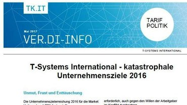 ver.di-Info Zielerreichung T-Systems 2016 - Teaser